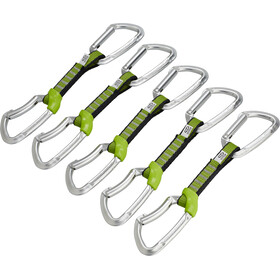 Climbing Technology Lime NY Quickdraw Set 12cm 5 Pack silver